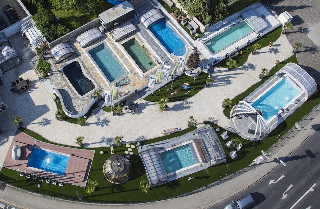 Poolpark the largest european ceramic pools showroom for Pool showrooms