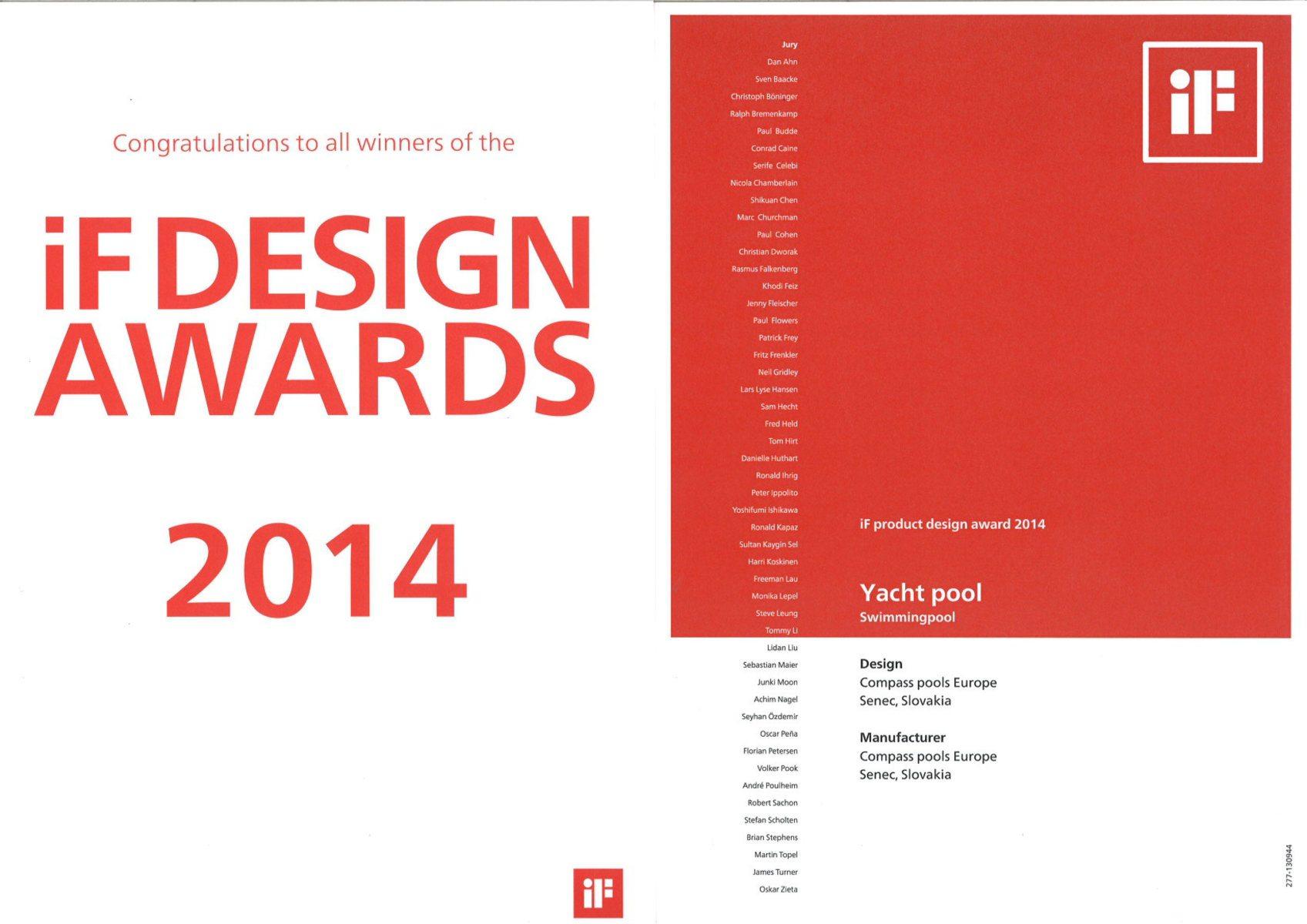 Yacht pool gewinnt 2 bedeutende design preise for Pool design certification
