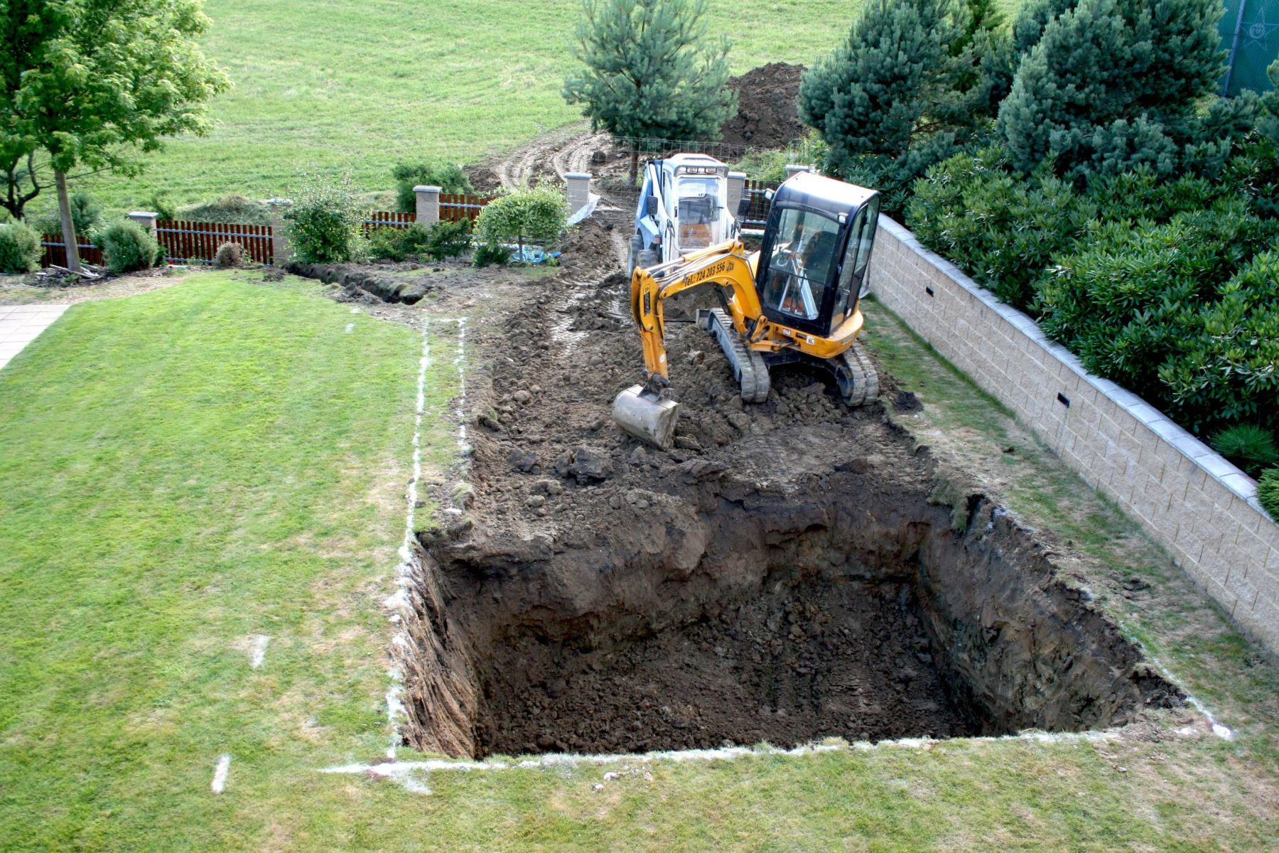 Compass ceramic pool installation - excavation