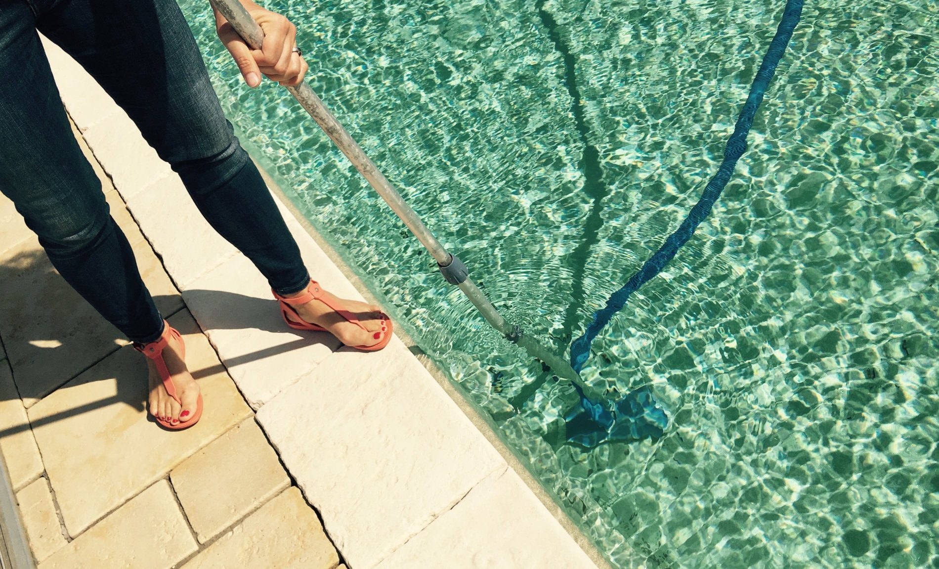 Dont be a slave to your pool - buy Compass self-cleaning pool