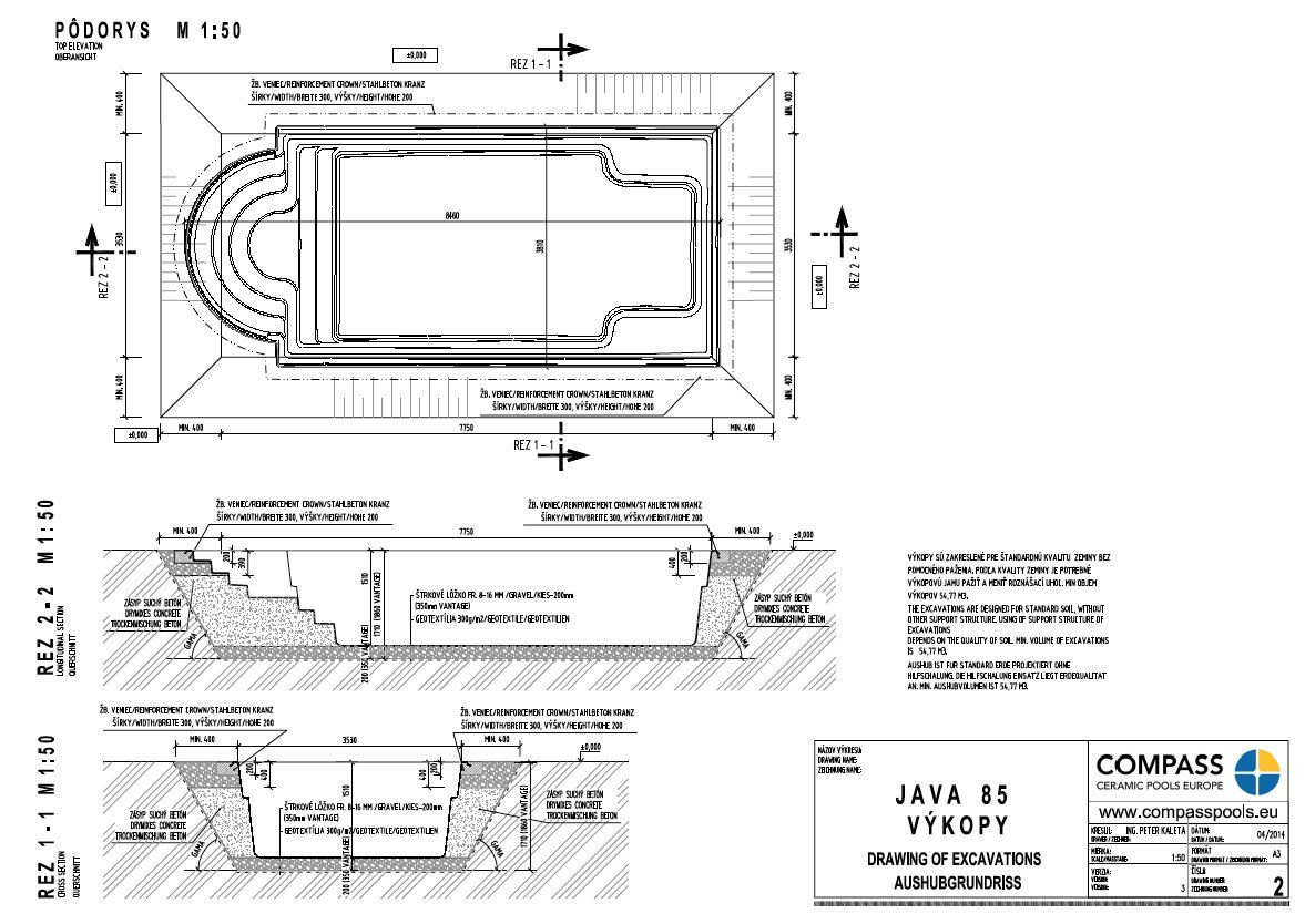 Swimming Pool Construction Detail Drawings : How to build a swimming pool step by compass pools