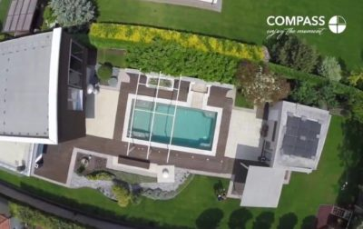 VIDEO: Drone flight above Compass ceramic pool